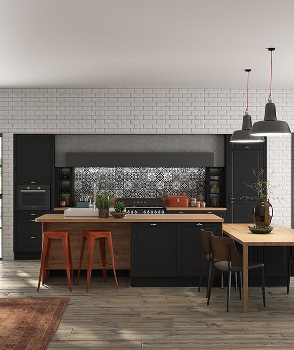 Cuisine Noire Et Bois 3 Idees Modernes Et Originales Pour
